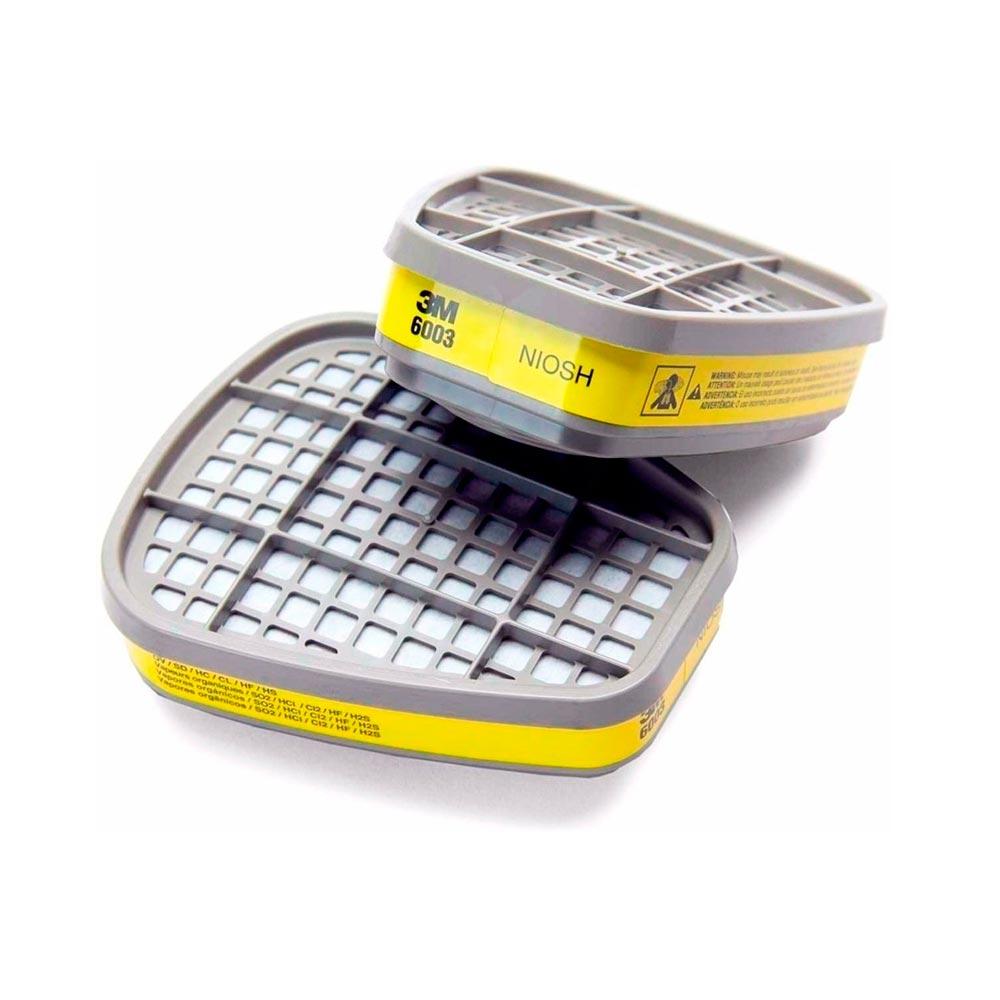 Filtro Quimico Cartucho 6003 VO/GA 3M emb. c/ 2 und.