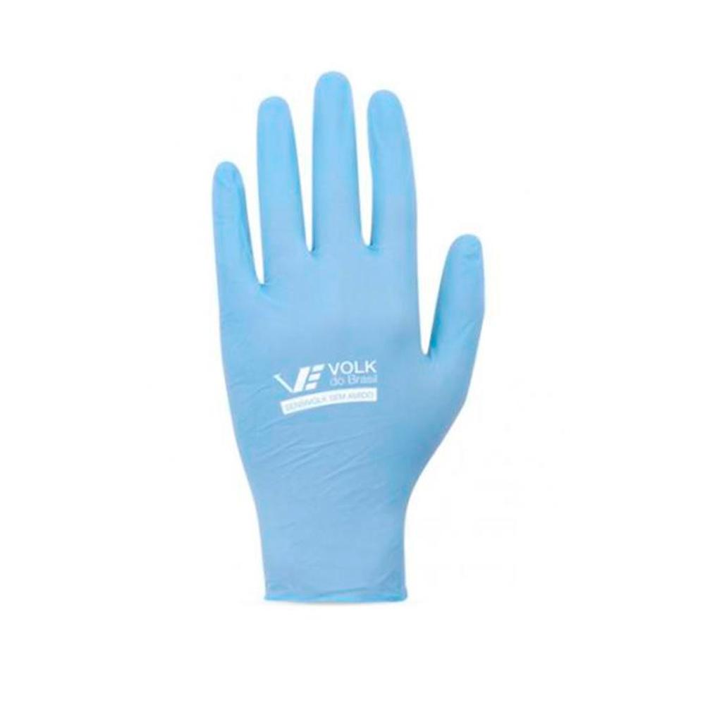 Luva Nitriica Descartavel Sensi Soft sem Amido Azul VOLK CA 35633