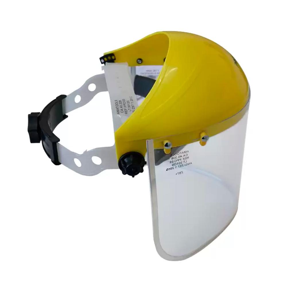 "Protetor Facial Incolor 8"" c/ Catraca Proteplus CA 40338"