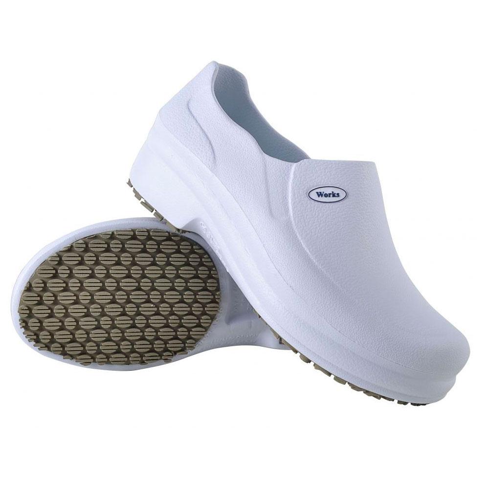 Sapato Antiderrapante Soft Med Work Branco BB65 CA 31898