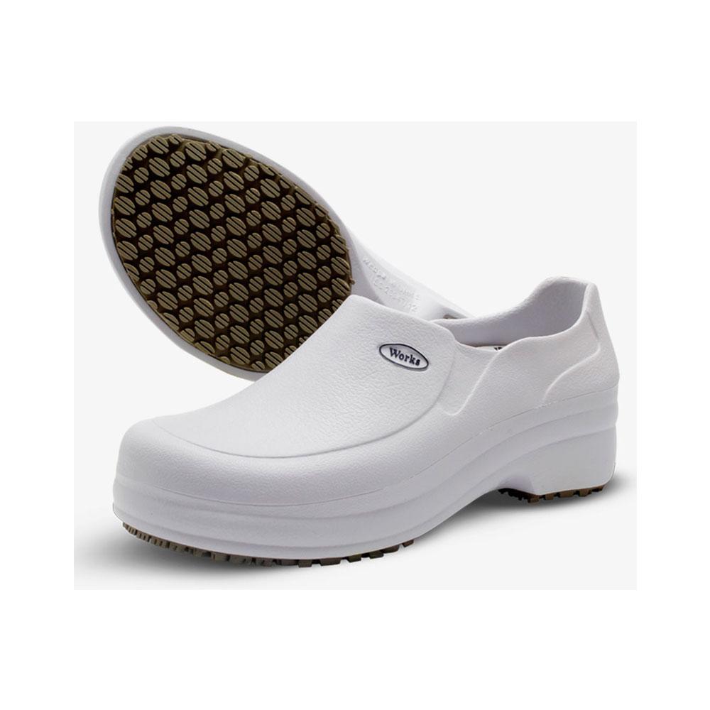 Sapato Profissional Antiderrapante Soft Med Work Branco BB65 CA 31898
