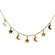 Tornozeleira Lua e estrela
