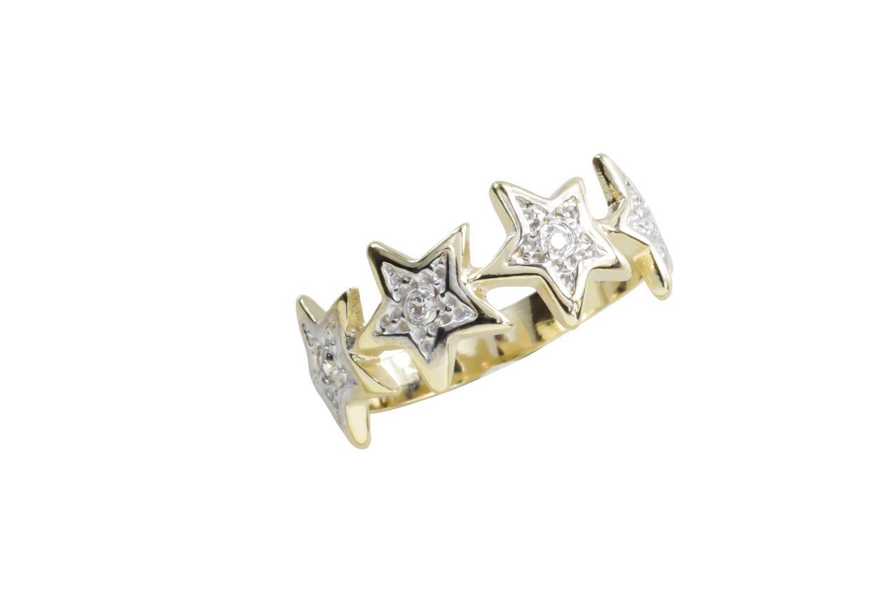 Anel Estrelas - Cod 651 F