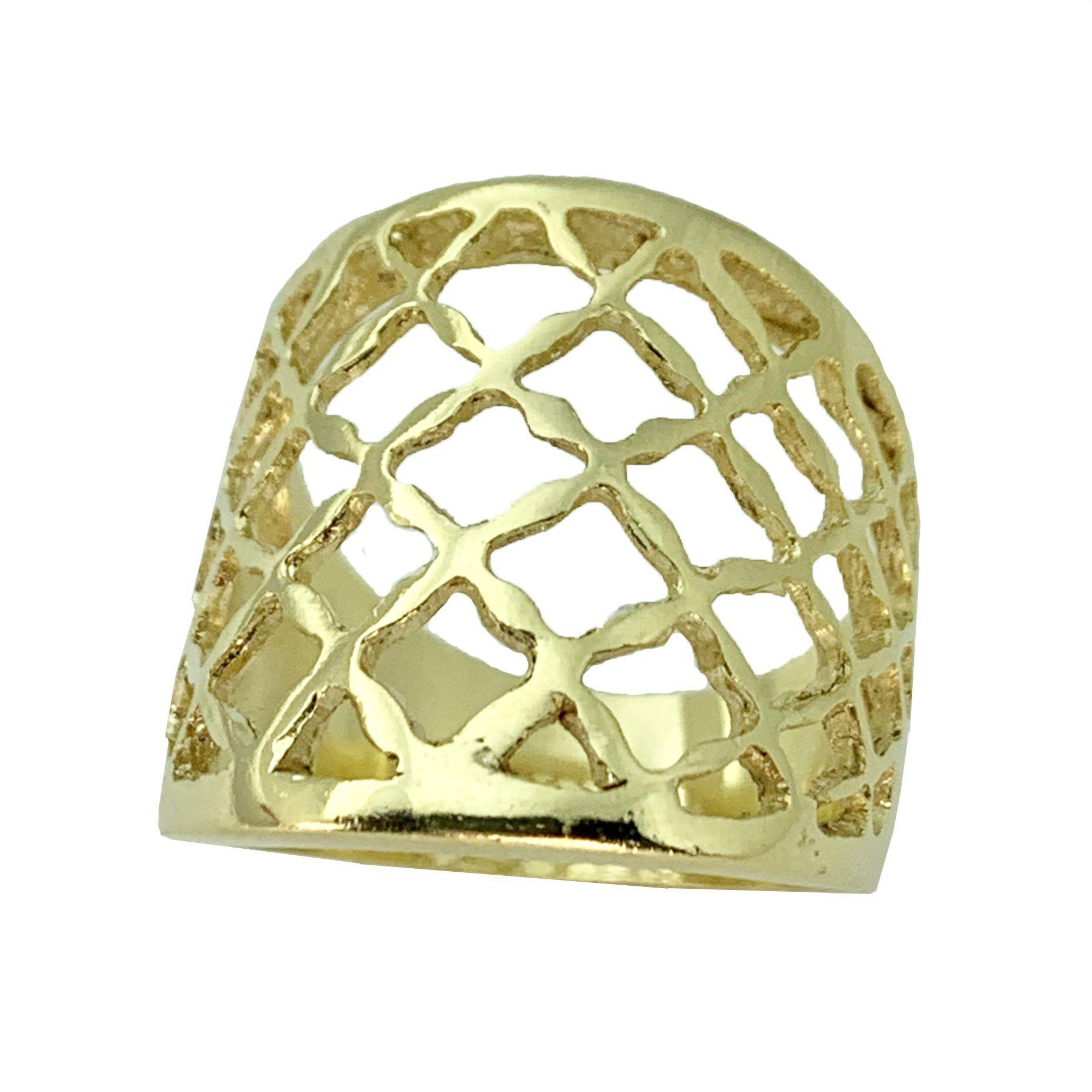Anel Tela Dourada - Cod 629 F