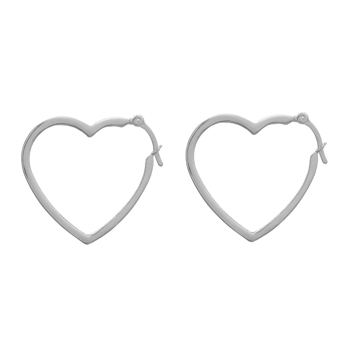 Argola Coração Prata
