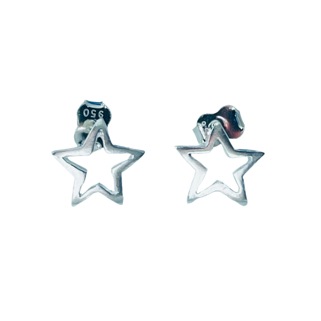 Brinco Estrela Prata