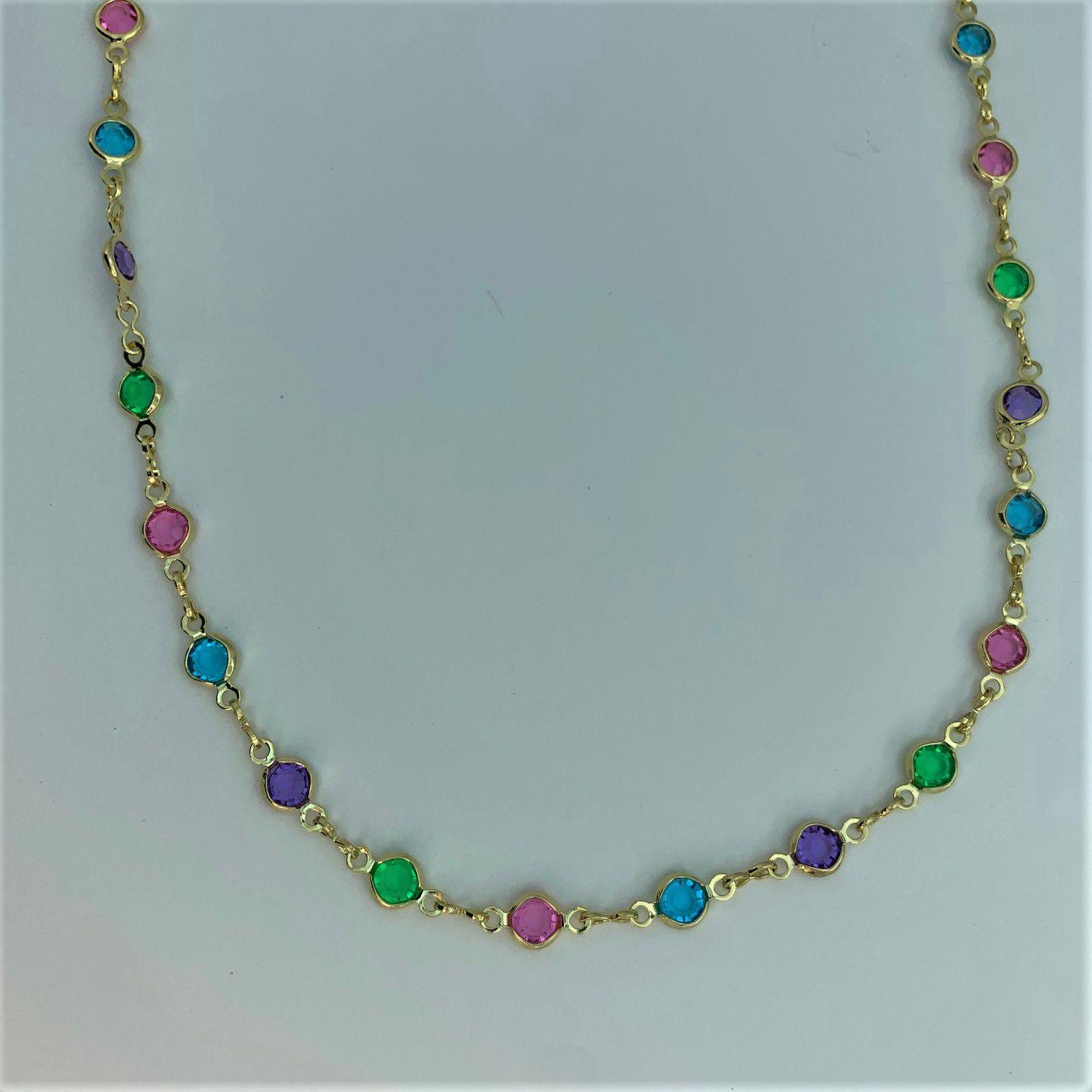 Cordão Arco Iris Folheado - 02