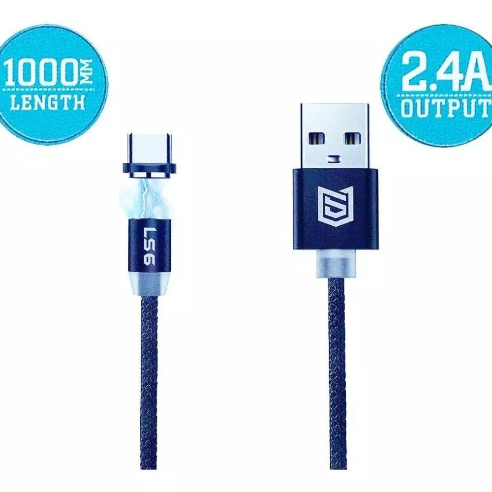 Cabo USB 3 em 1 Magnético-Micro USB-Tipo C-Lightning