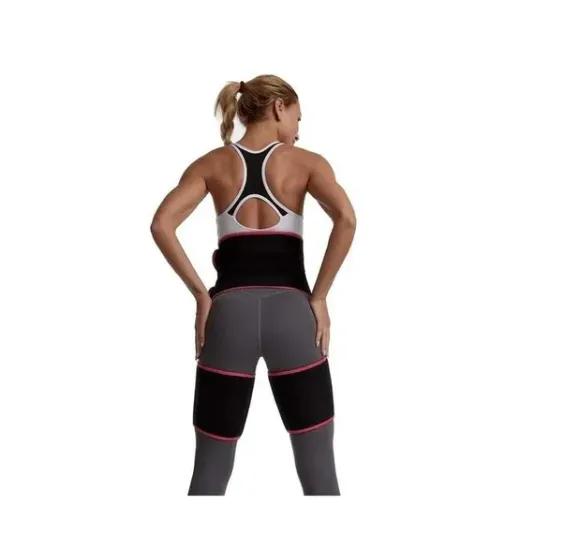 Cinta Emagrecimento Fitness Cintura e Pernas Ajustável