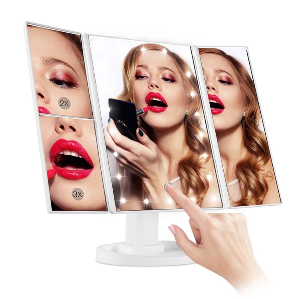 Espelho 3 Lados 22 Led Maquiagem Superstar Magnifying Mirror