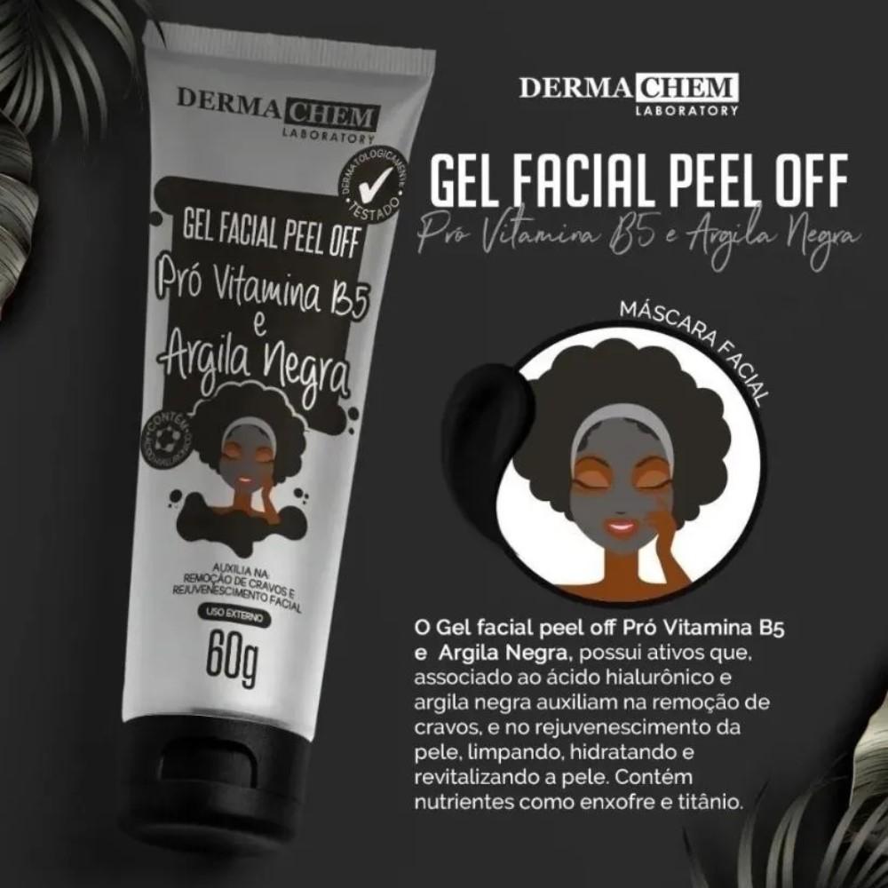 Gel Facial Peel Of Argila Negra Pro Vitamina B5 Dermachem