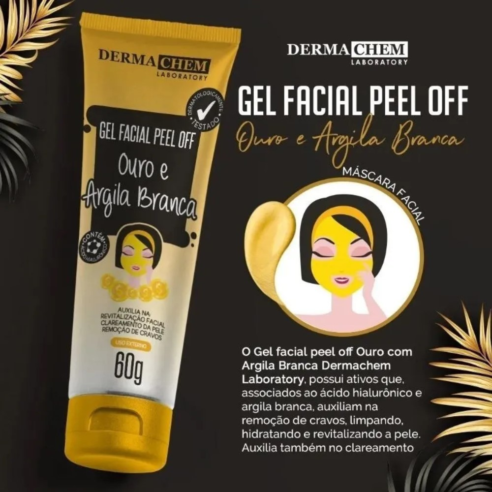 Gel Facial Peel Of  Ouro e Argila Branca Dermachem