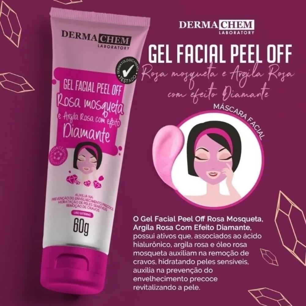 Gel Facial Peel Of Rosa Mosqueta e Argila Diamante Dermachem