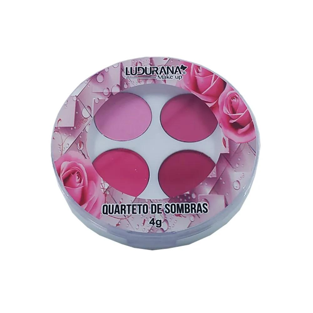 Ludurana Quarteto de Sombras Nuance tons rosa