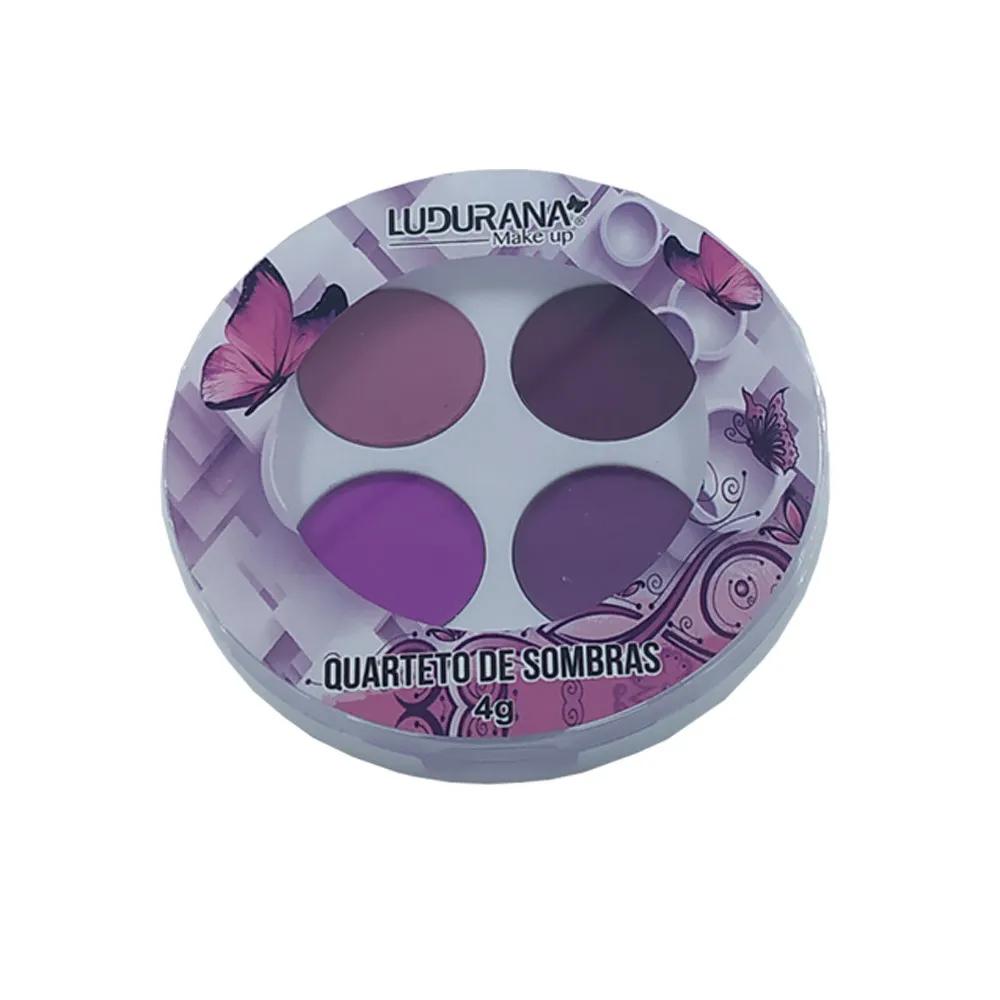 Ludurana Quarteto de Sombras Nuance tons roxos.