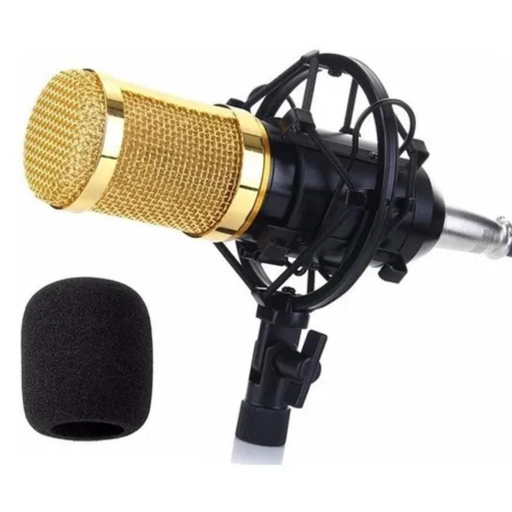 Microfone Andowl BM-800 unidirecional preto/dourado 7451