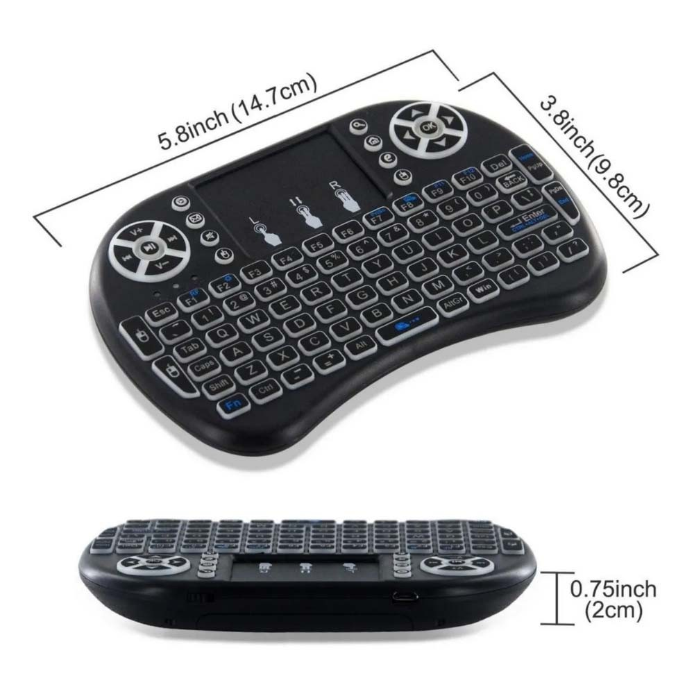 Mini Teclado Wireless Tv Box Pc Android Tv Smart