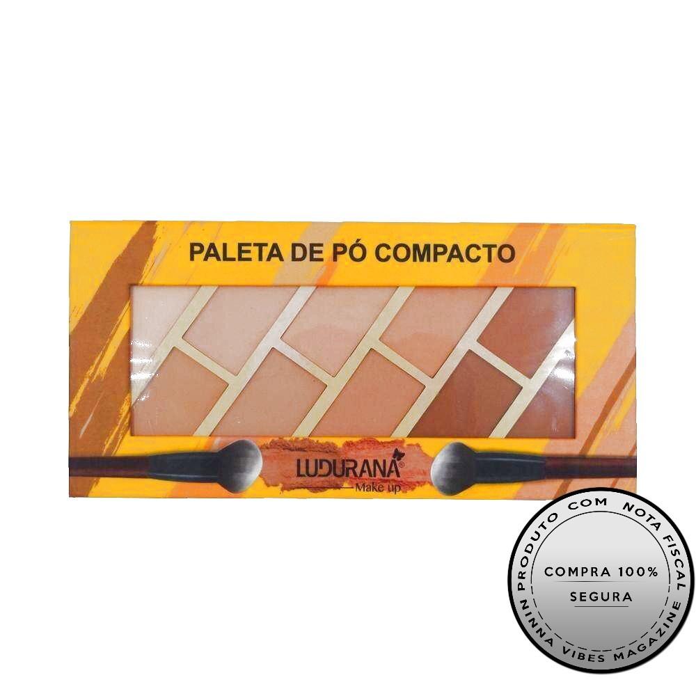 Paleta De Pó Compacto C/ Iluminador Ludurana