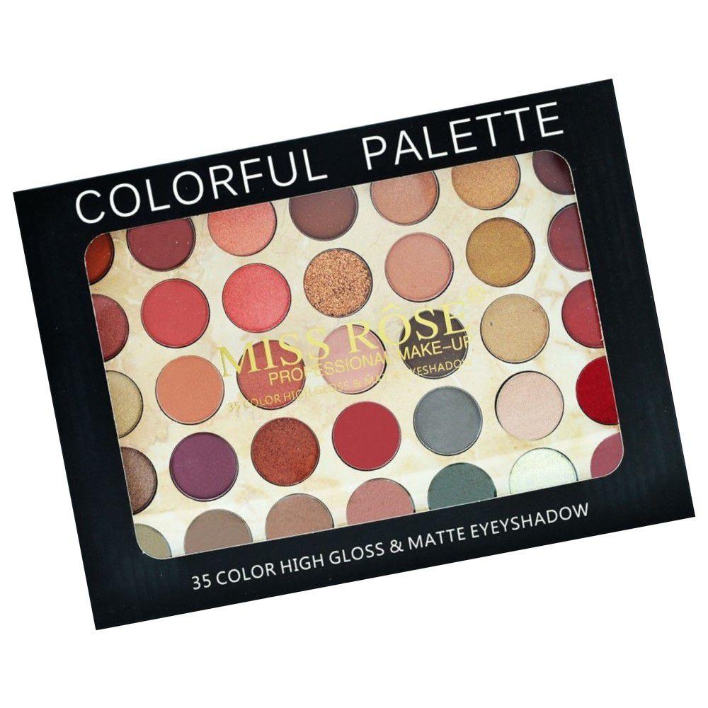 Paleta de Sombra COLORFUL 35 Cores Miss Rosê 081N4