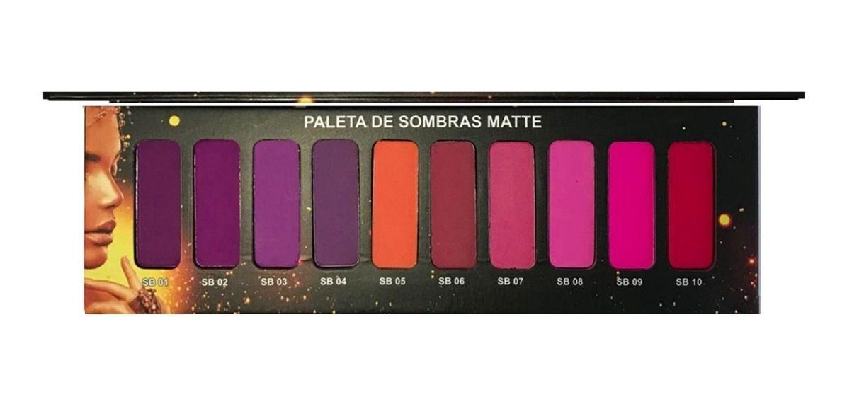 PALETA DE SOMBRA MATTE 10 CORES Ludurana
