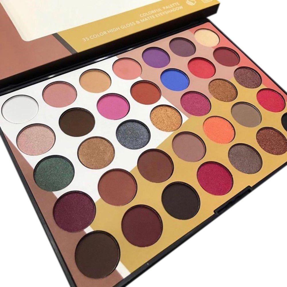 Paleta De Sombras COLORFUL Miss Rôse 35 Cores 021M2