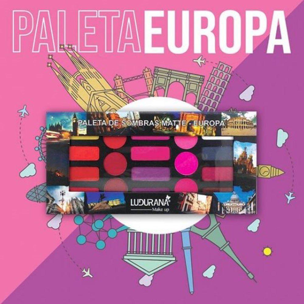 Paleta de Sombras Matte Europa Remasterizada Ludurana