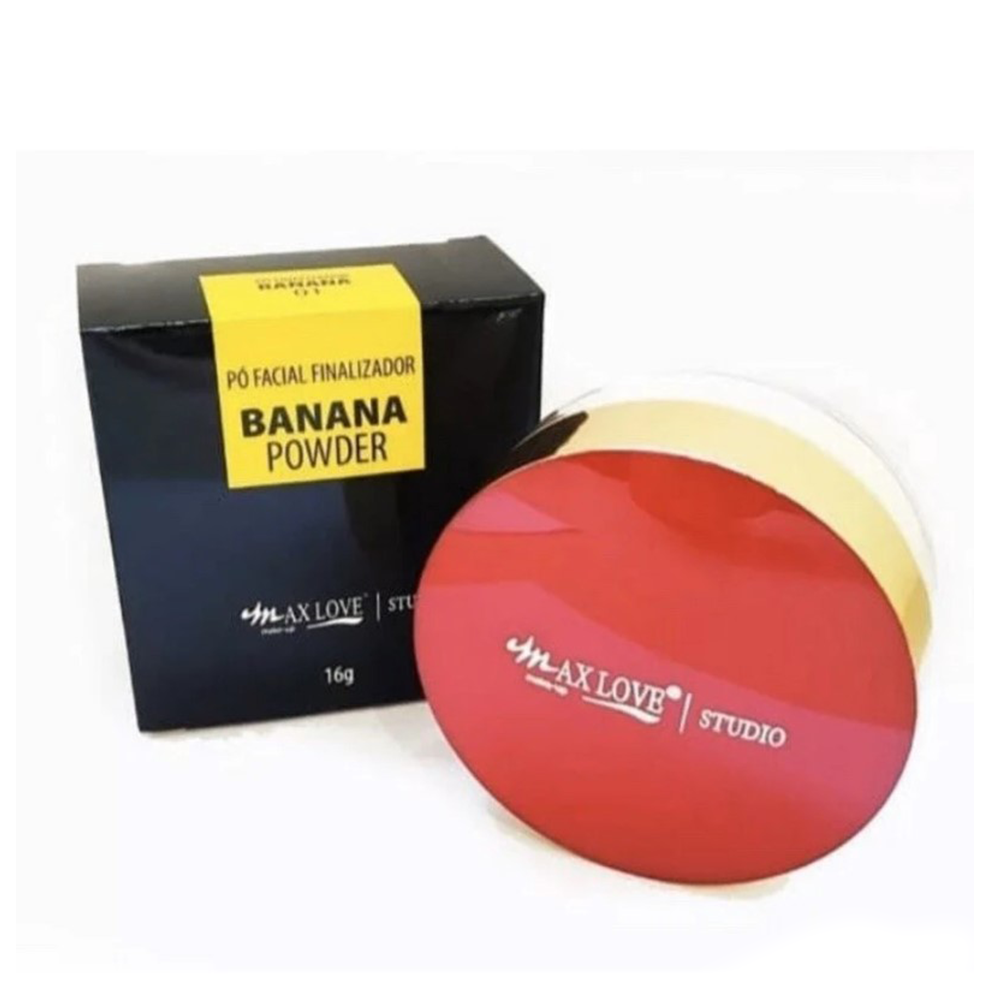 Pó Facial Finalizador Banana Powder Max Love 16g - 01