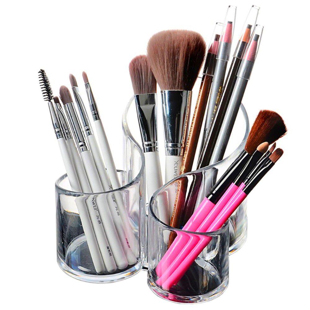 Porta Maquiagem Organizador de Batons Pincéis de Acrílico