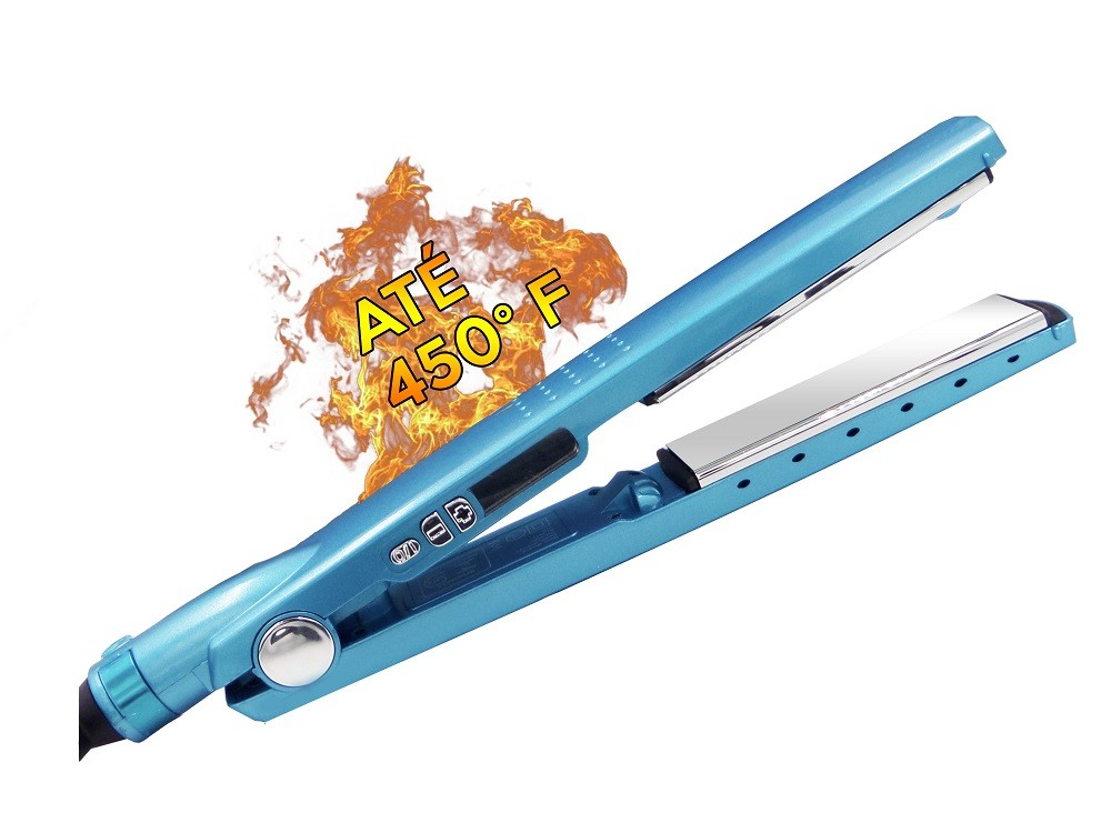 Prancha de cabelo MQ Professional Titanium azul 110V/220V