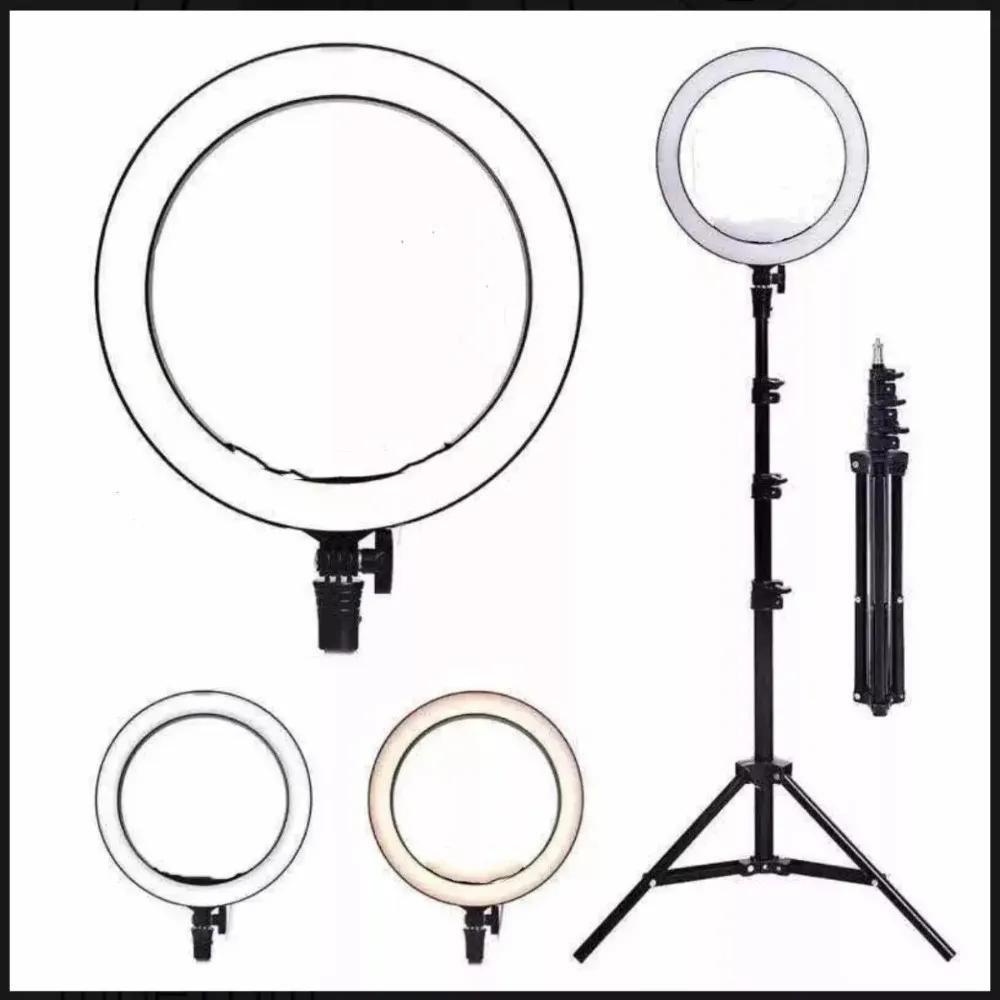 Ring Light Completo Iluminador Portátil 26cm + Tripé 2m