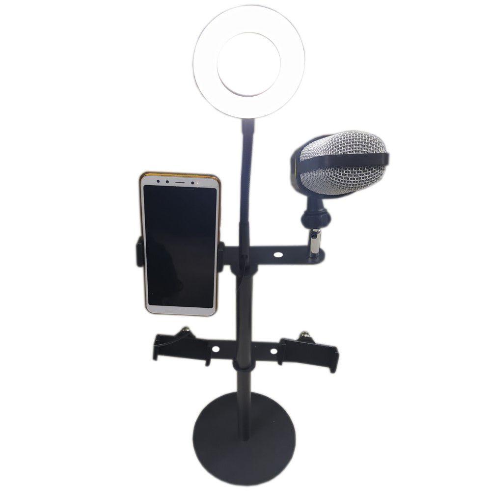 Ring Light Iluminador Selfie Makeup + Suporte De Mesa Luz Led