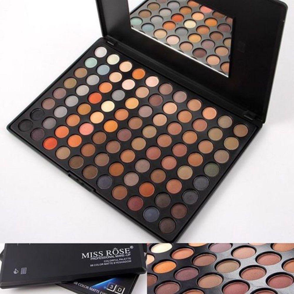 Sombra 3D Miss Rôse 88 Pigmentos Colorful Palette Escuro