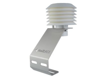 Kit composto por abrigo termométrico e sensor de temperatura e umidade do ar (termohigrômetro)