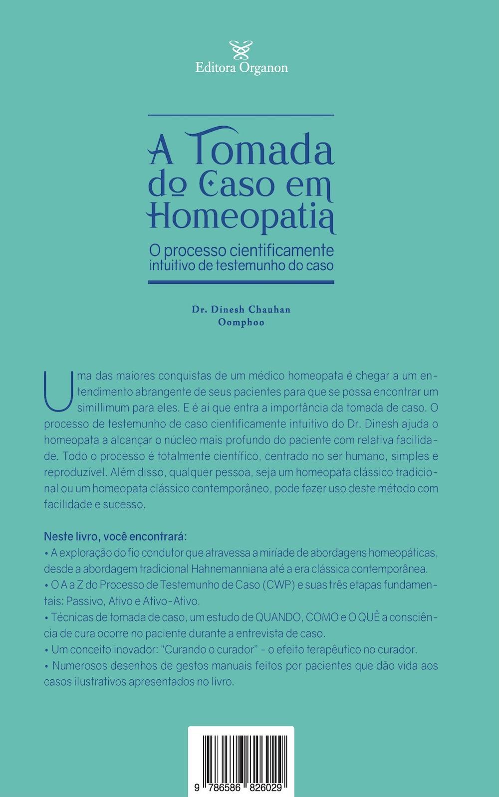 A TOMADA DO CASO EM HOMEOPATIA