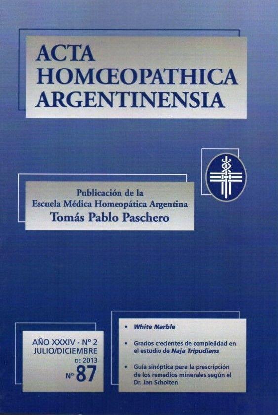 ACTA Nº 87. ANO XXXIV - Nº 2. JULIO/DICIEMBRE, 2013, PP. 5-9