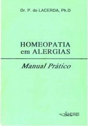 HOMEOPATIA EM ALERGIAS - MANUAL PRATICO