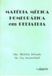 MATERIA MEDICA HOMEOPATICA EM PEDIATRIA