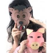 MASCARAS DE ANIMAIS - PROMOVE O CONTATO VISUAL - EM EVA