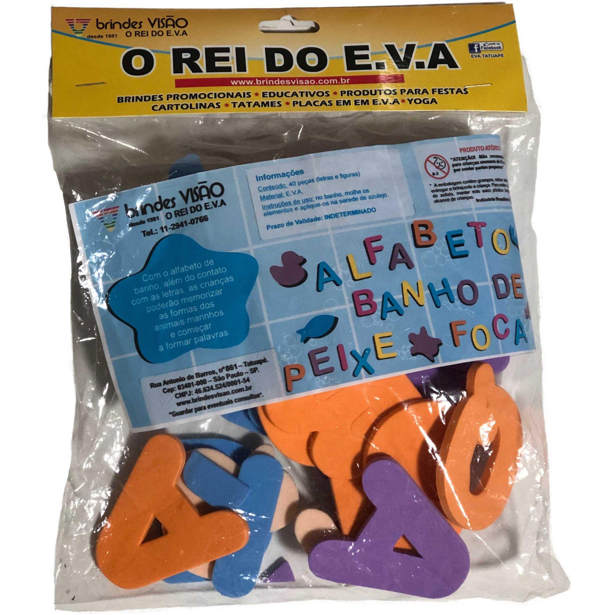 ALFABETO DE BANHO - 40 PEÇAS EM E.V.A