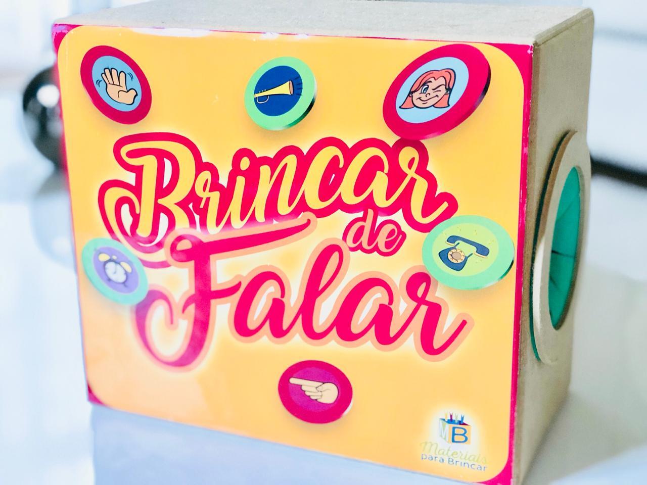 BRINCAR DE FALAR - CAIXA EM MADEIRA - 42 FICHAS