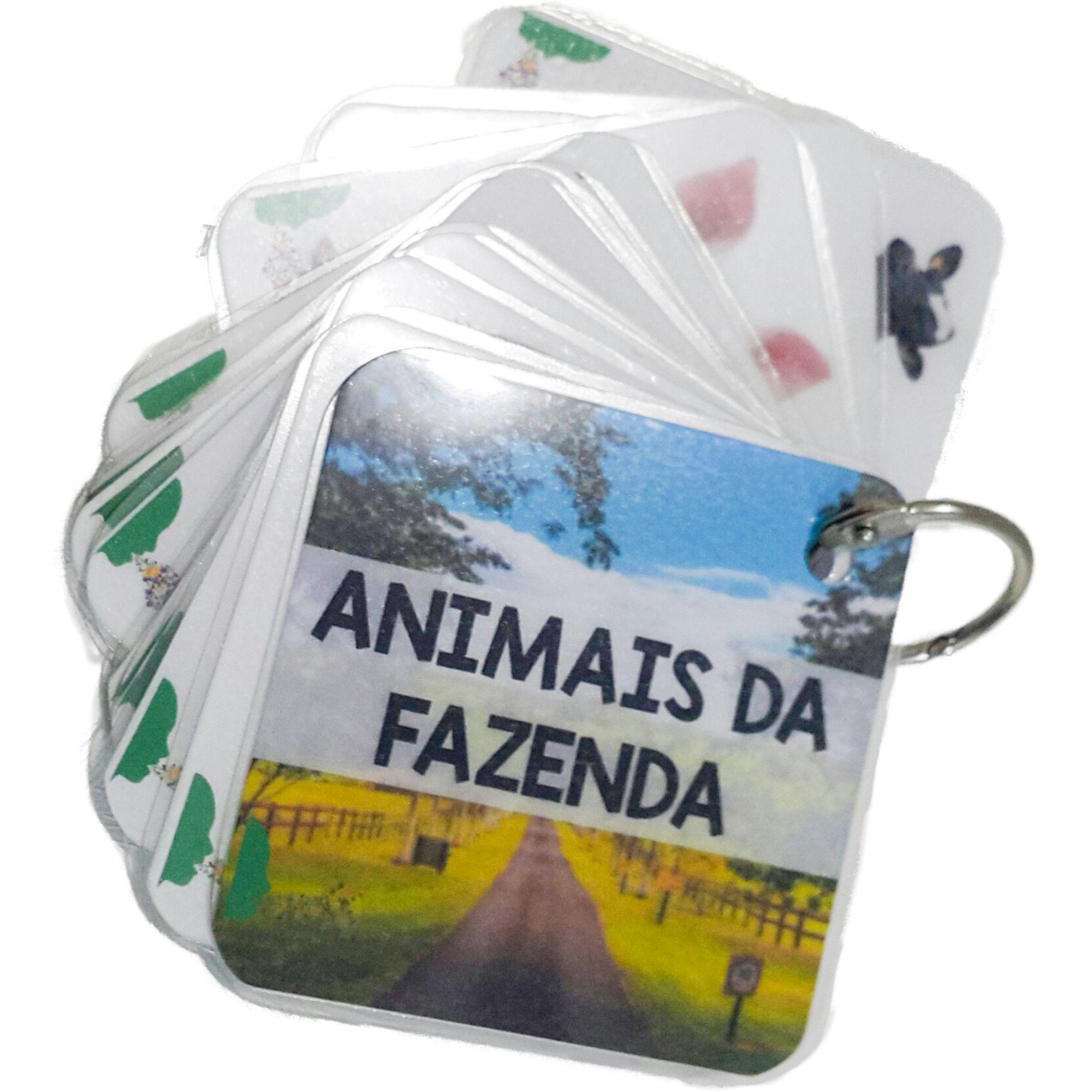 CHAVEIRO PLASTIFICADO ESTIMULADOR DE LINGUAGEM - FRUTAS / ANIMAIS DA FAZENDA / PARTES DO CORPO