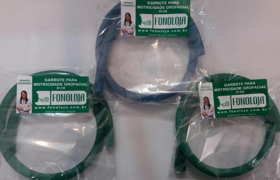 GARROTE COLORIDO  PARA MOTRICIDADE ORAL 50cm - 03 UNIDADES: 2 verdes e um azul