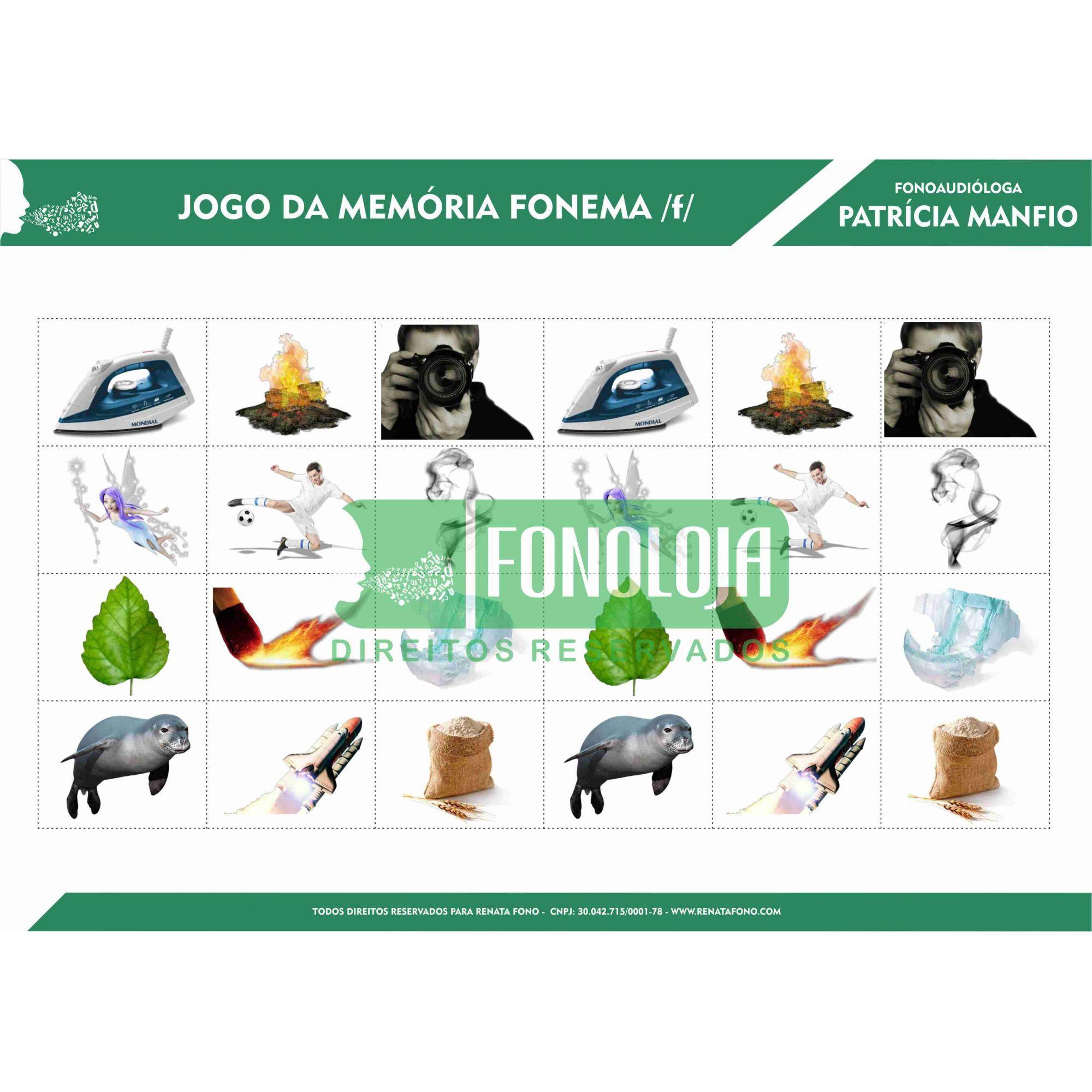 KIT 02 - JOGOS DA MEMÓRIA FONEMAS FRICATIVOS