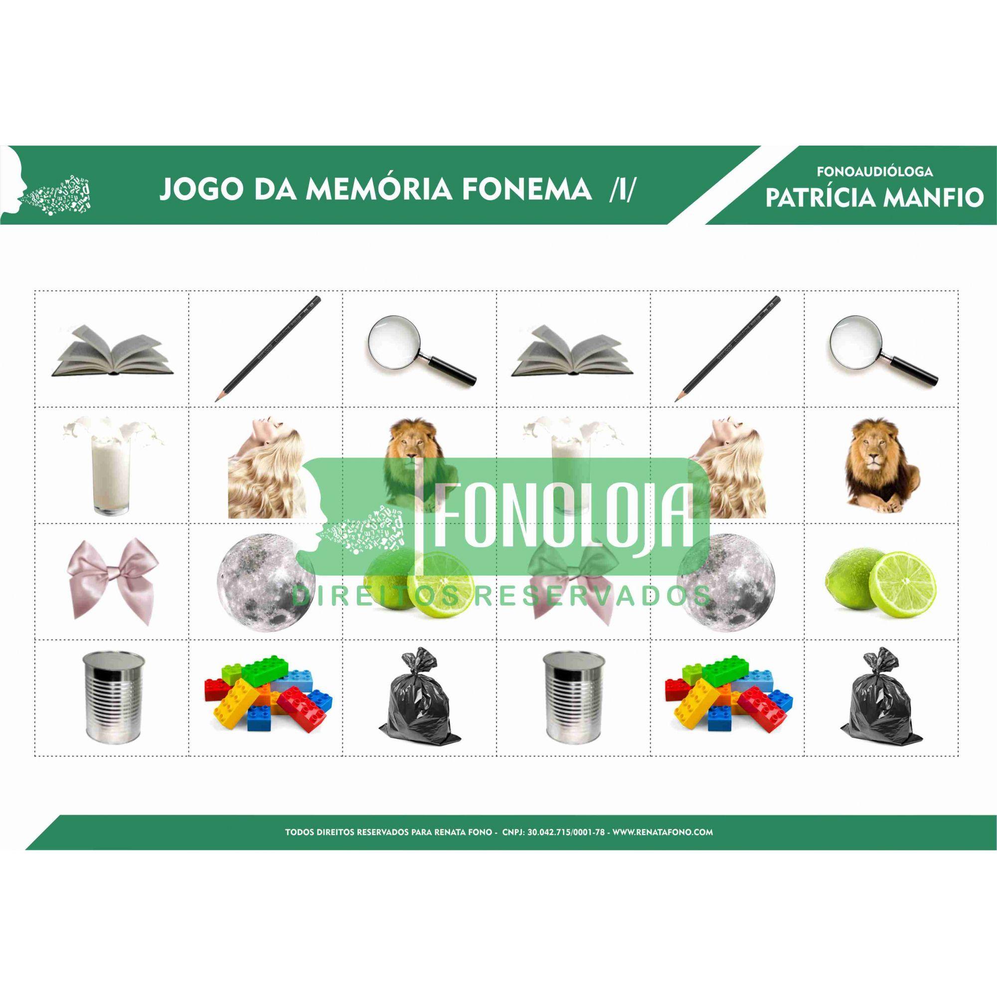 KIT 05 - JOGOS DA MEMÓRIA NASAIS E LÍQUIDAS