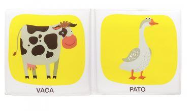 Livro de Banho - Animais da Fazenda - Acompanha Porquinho e Galinha