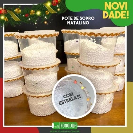POTE DE SOPRO - ESPECIAL NATAL - PACOTE COM 2 UNIDADES