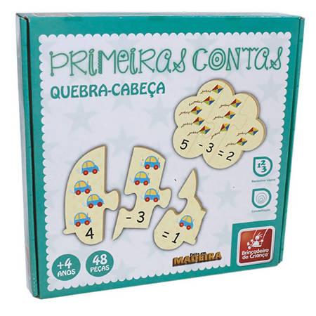 PRIMEIRAS CONTAS QUEBRA CABECA - EM MADEIRA