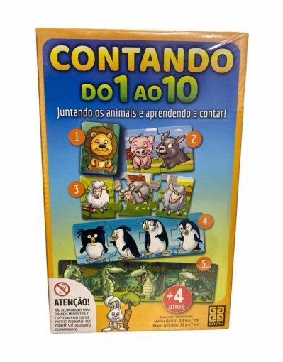 Puzzle Contando do 1 ao 10