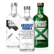 1 Vodka Absolut Original 750ml + 1 Vodka Absolut Extrakt 750ml + 1 Vodka  Absolut Vanilia 750ml