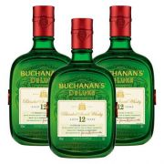 Kit: 3 Whiskys Importado Buchanans 1l 12 Anos